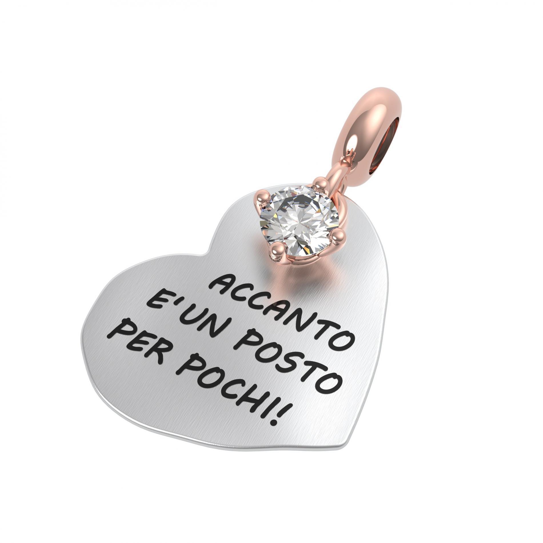 25137 ciondolo Rerum cristallo rocca amore