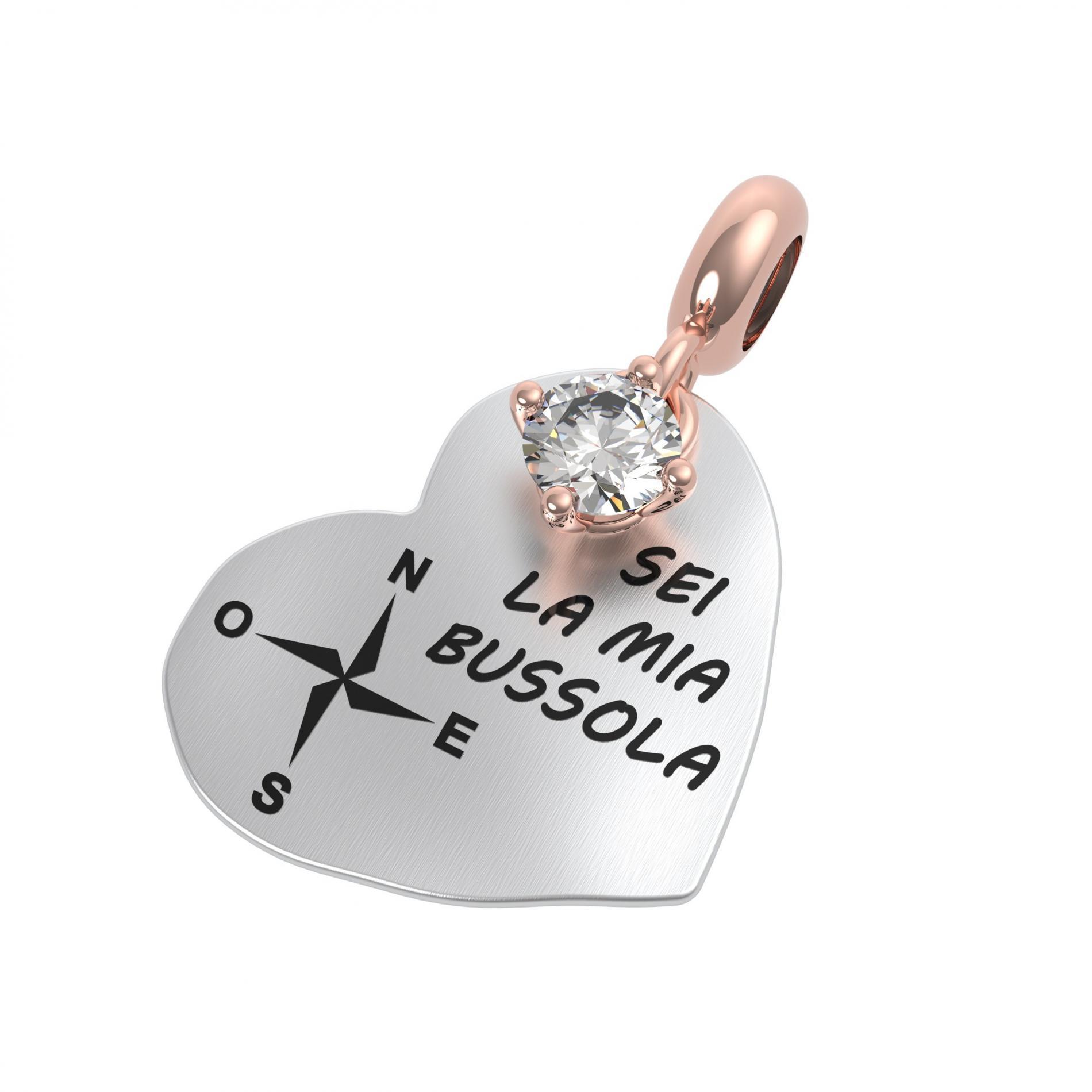 25138 ciondolo Rerum amore cristallo di rocca
