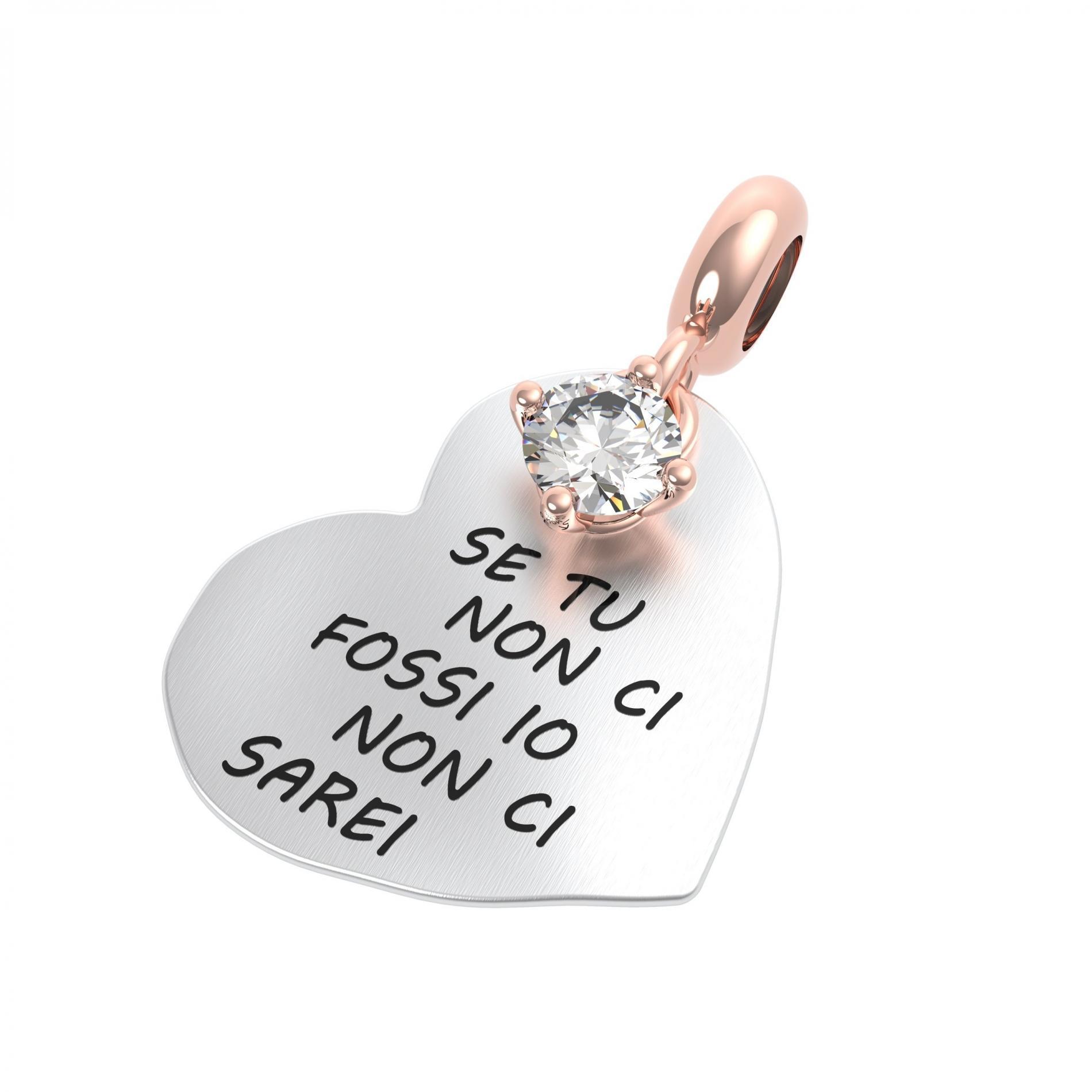 Ciondolo argento rerum 25061 amore