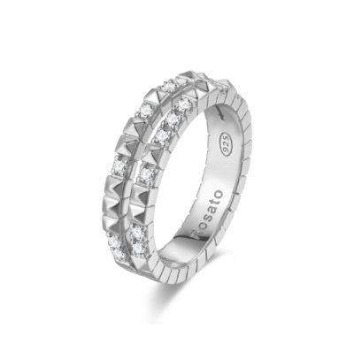 Rosato anello cubica RZA013 B