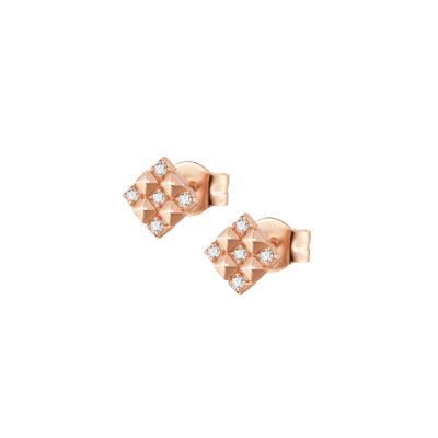 Rosato orecchini cubica RZO039