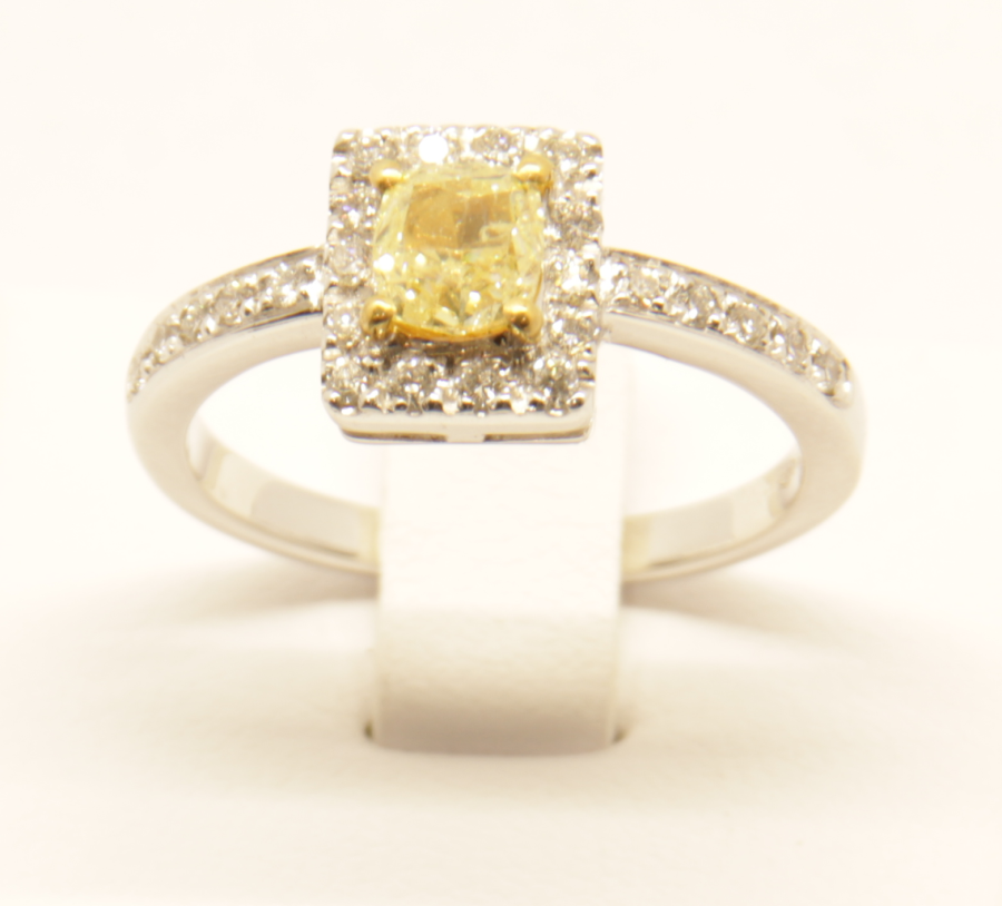 Anello diamante giallo Deil Joseph A018 fronte