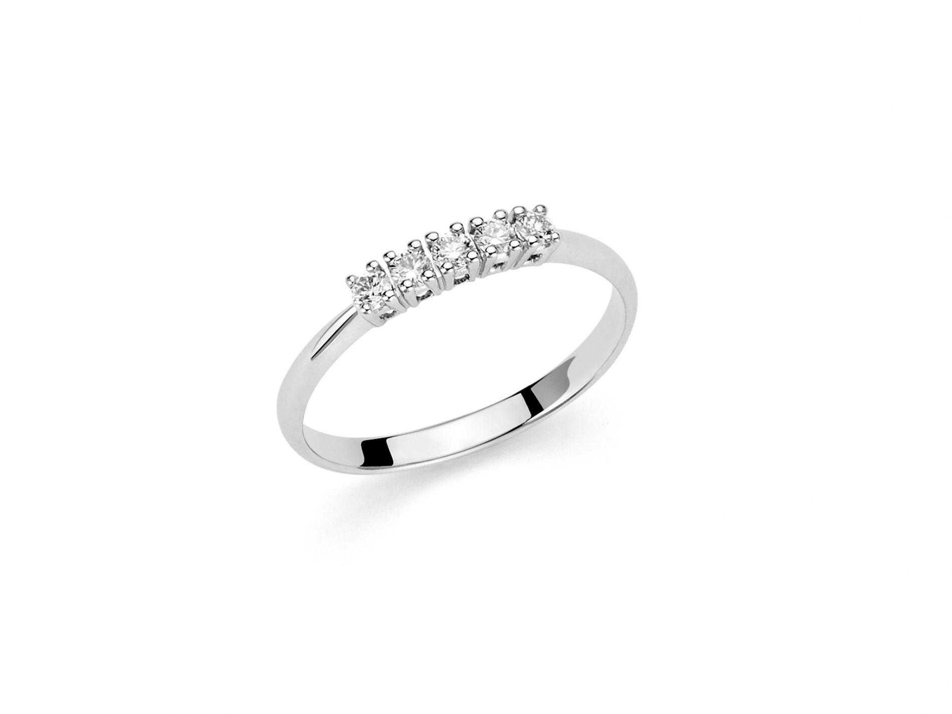 Anello miluna oro bianco diamanti riviere LID3228