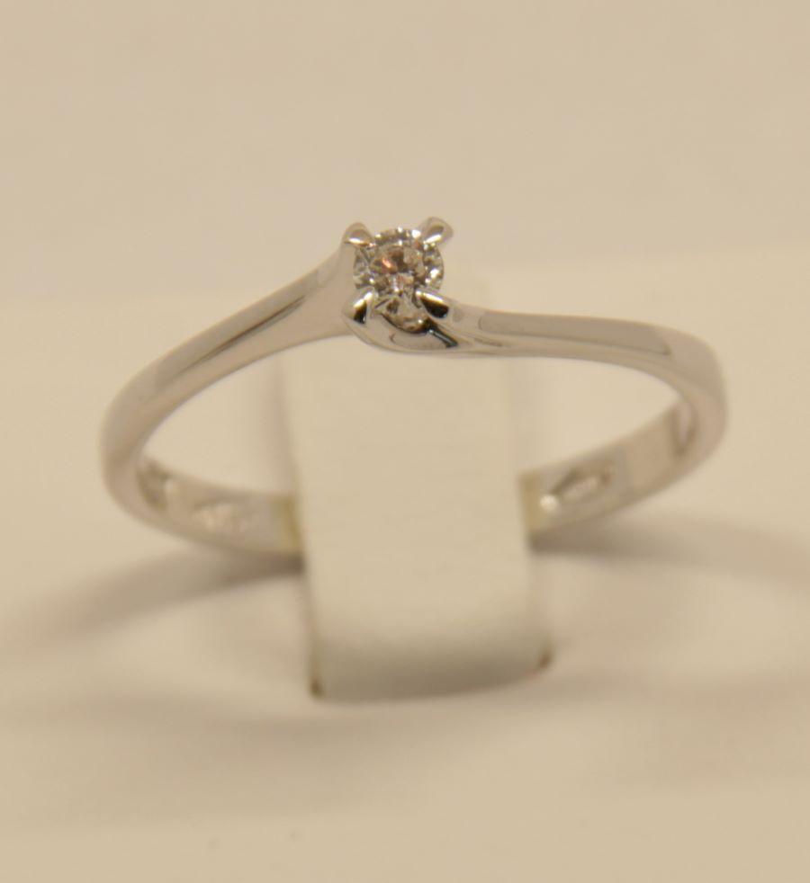 Anello oro bianco Polello E2644 B