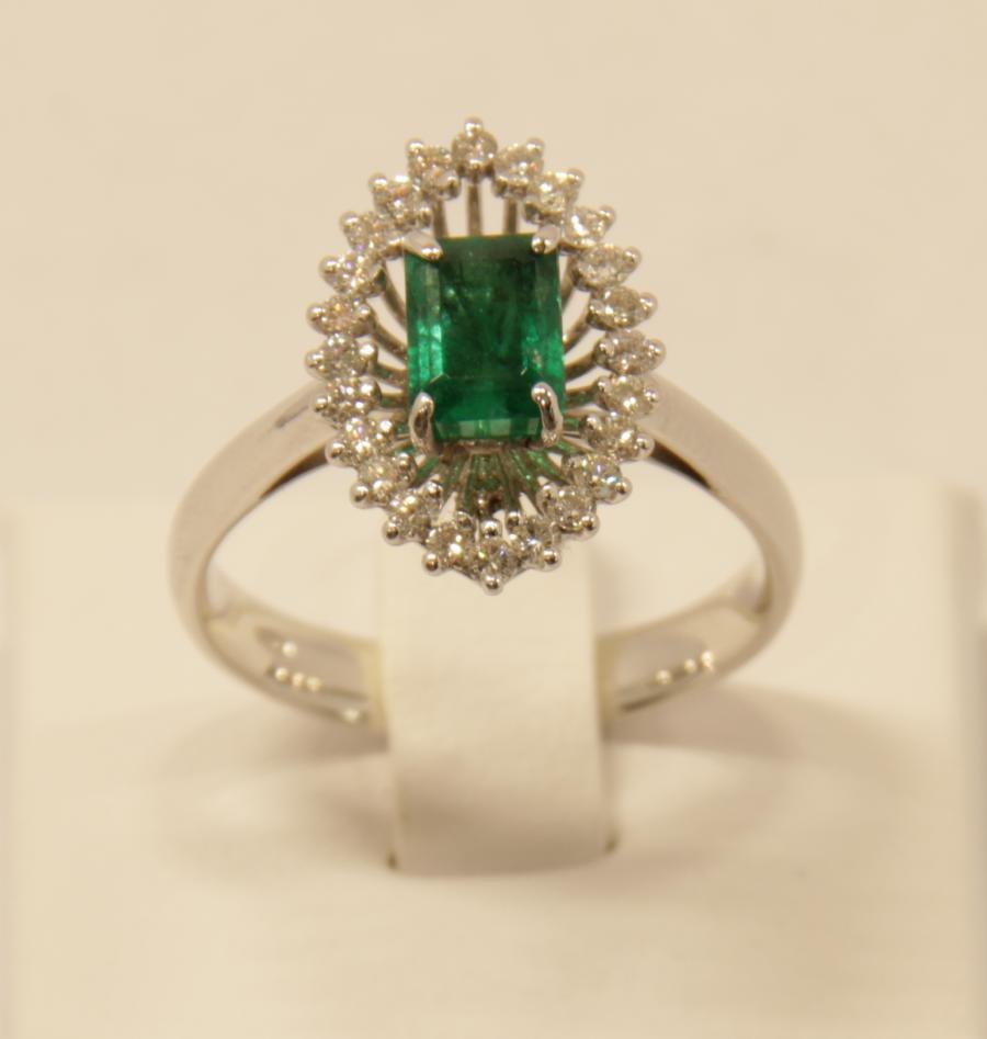 Anello smeraldo Deil Joseph 7239 fronte