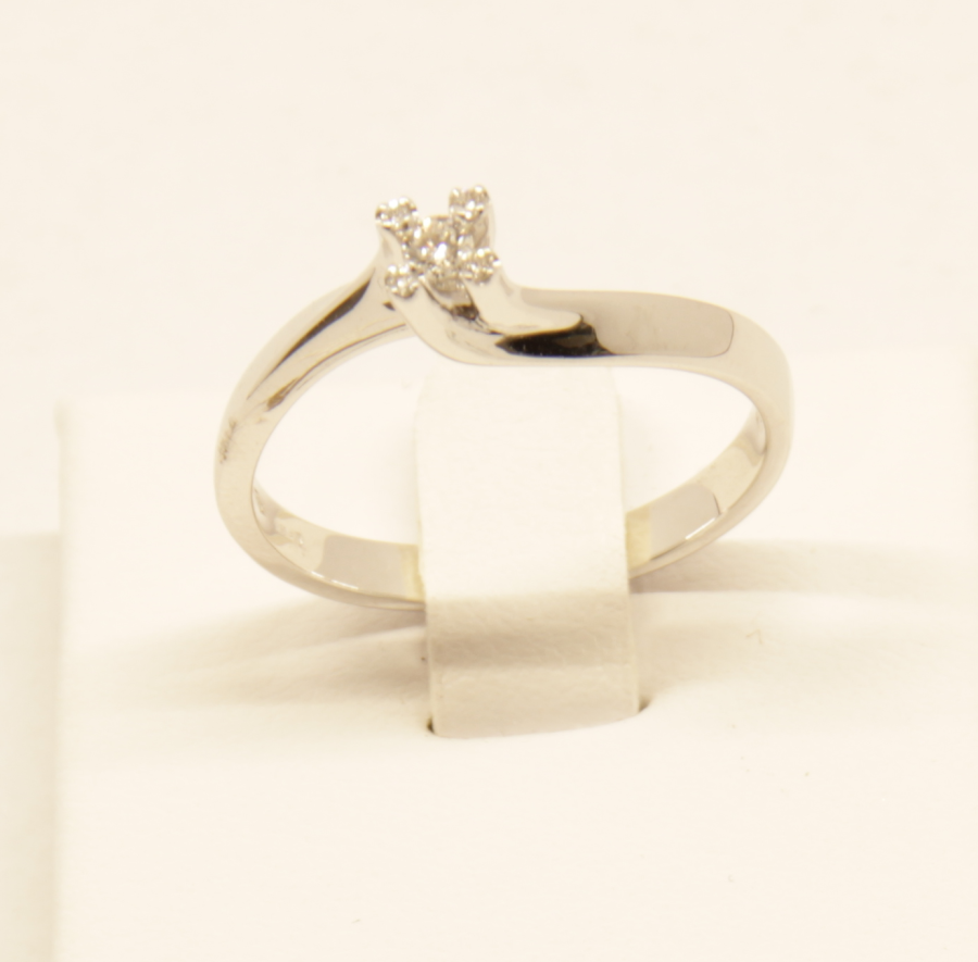 Anello solitario Polello E2968 B fronte