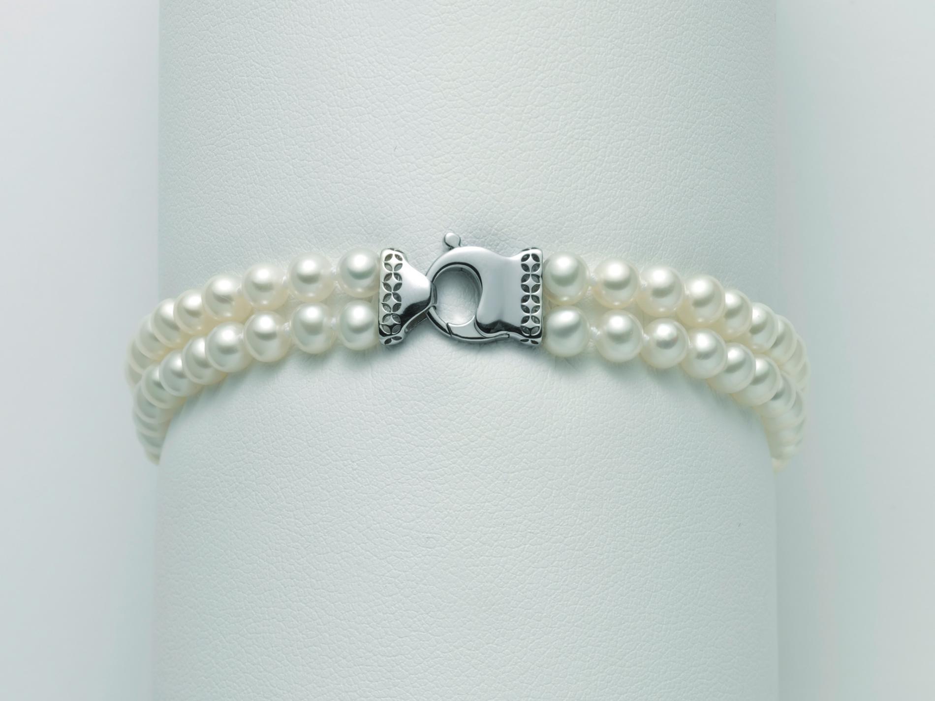Bracciale Miluna oro perle PBR3074