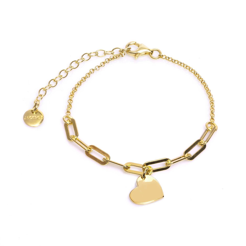 Bracciale argento dorato jackco JCB1865