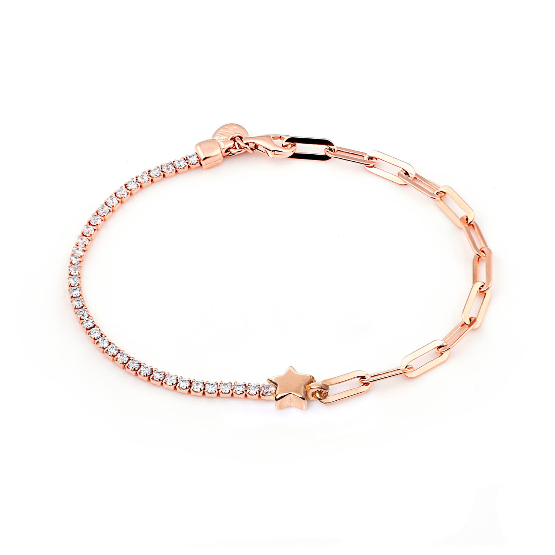 Bracciale argento rosato jackco JCB1857