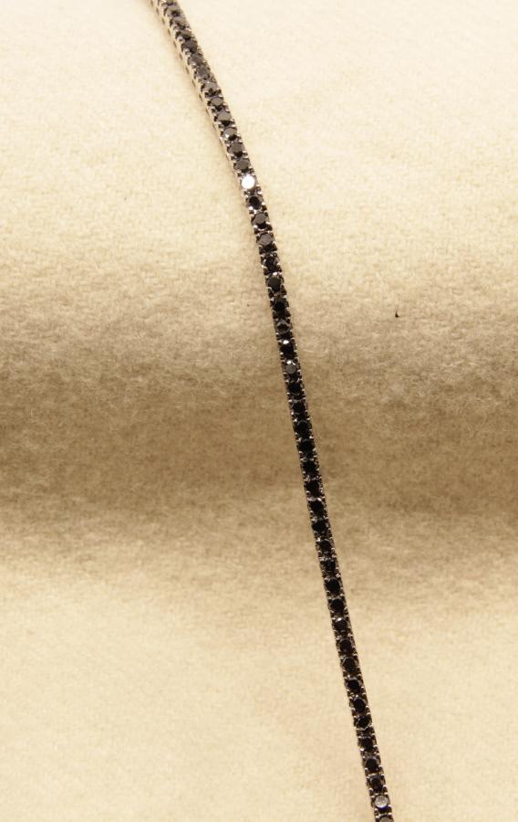 Bracciale tennis brillanti neri Deil Joseph A727 fronte