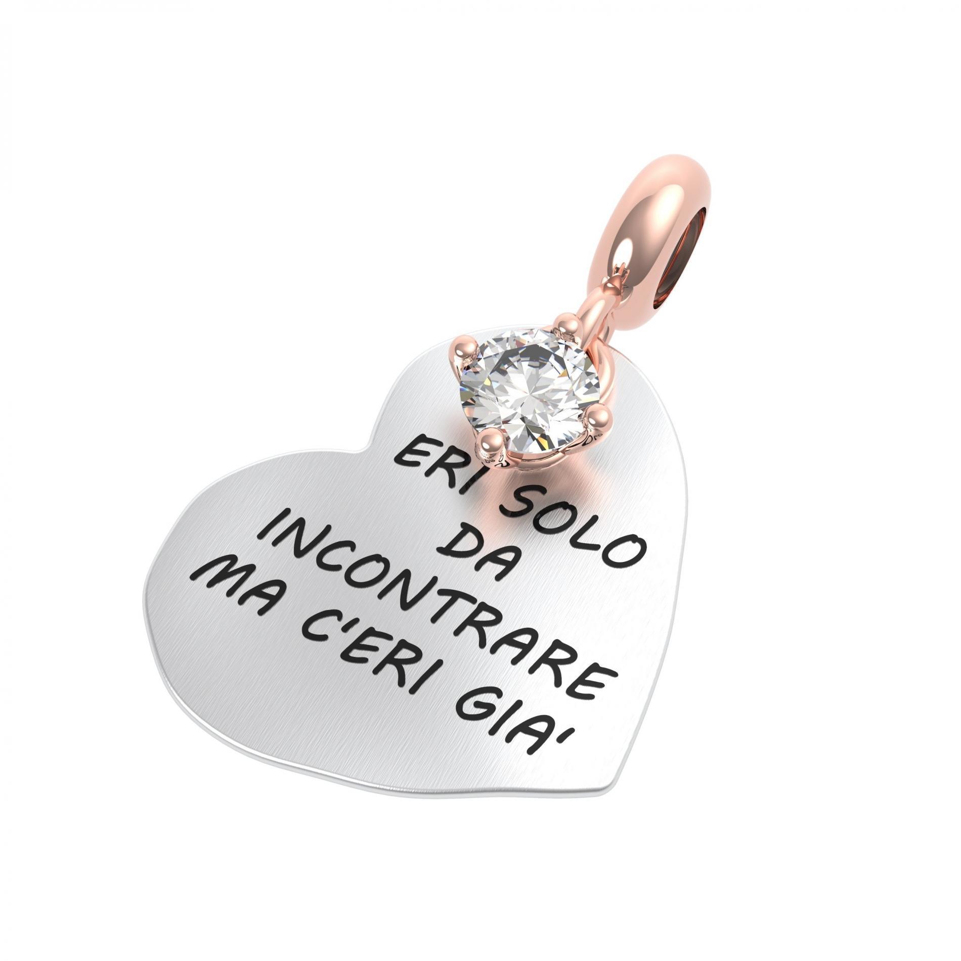 Ciondolo argento Rerum 25058 amore
