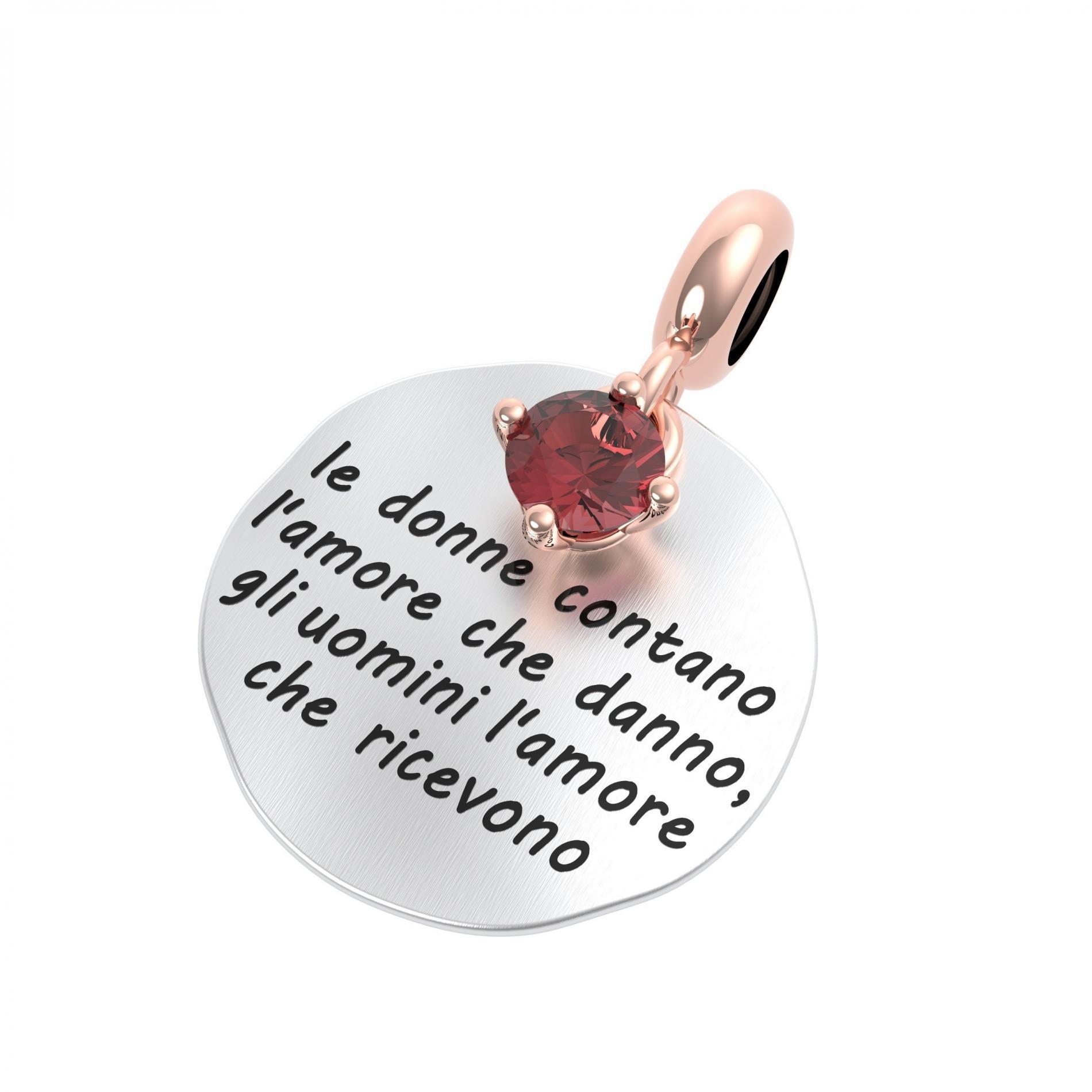 Ciondolo argento rerum 25004 musa