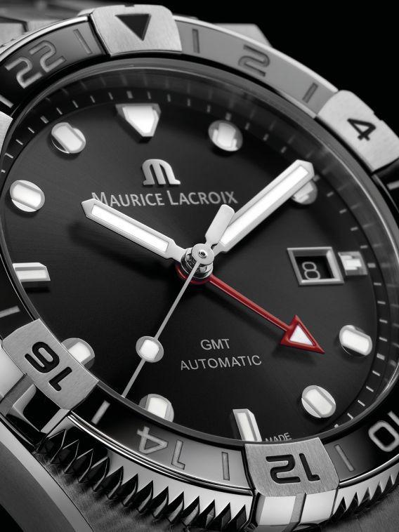 Orologio Maurice Lacroix Aikon Venturer gmt ai6158 ss00f 330 2 primo piano