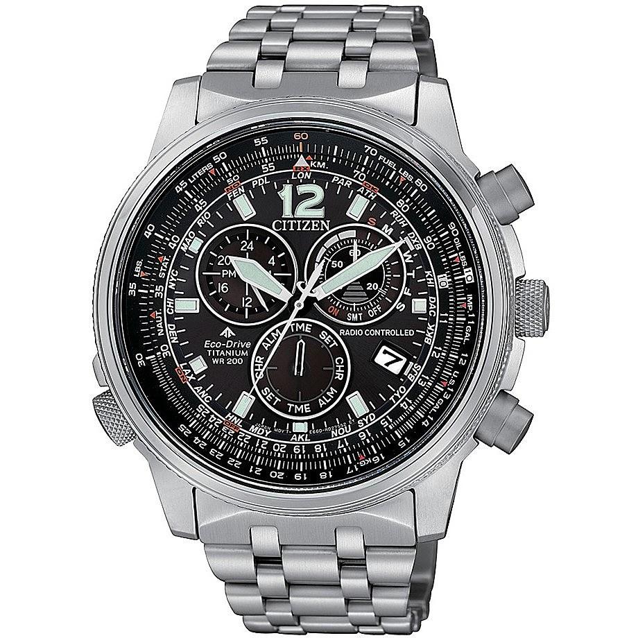 Orologio cronografo uomo citizen pilot cb5850 80e