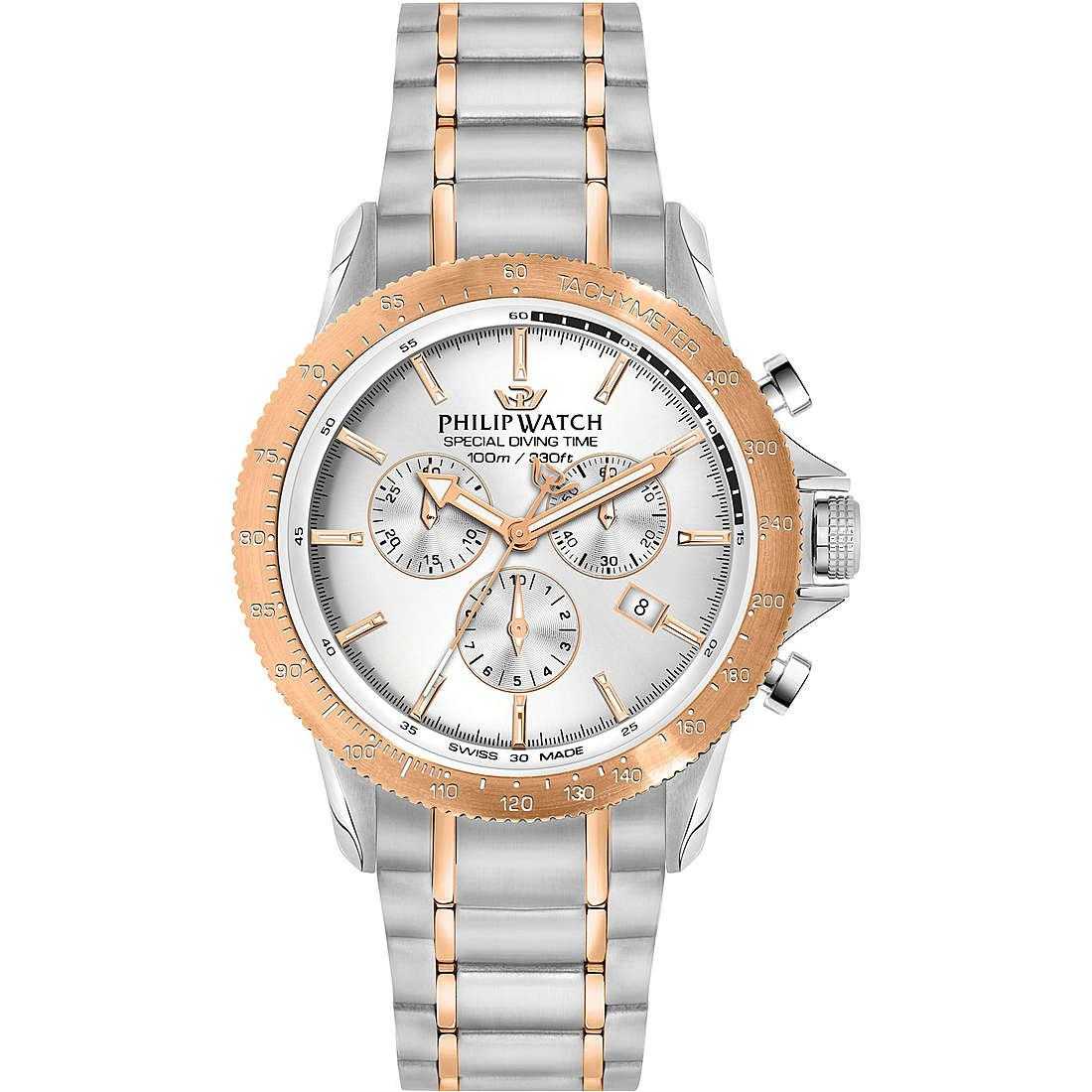 Orologio cronografo uomo philip watch grand reef r8273614002