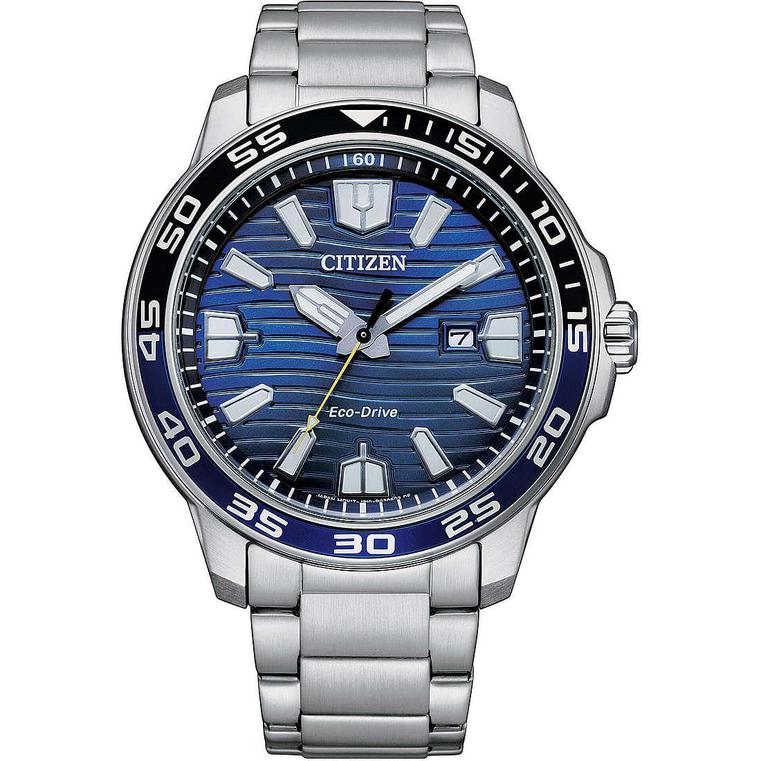 Orologio solo tempo uomo citizen marine aw1525 81l