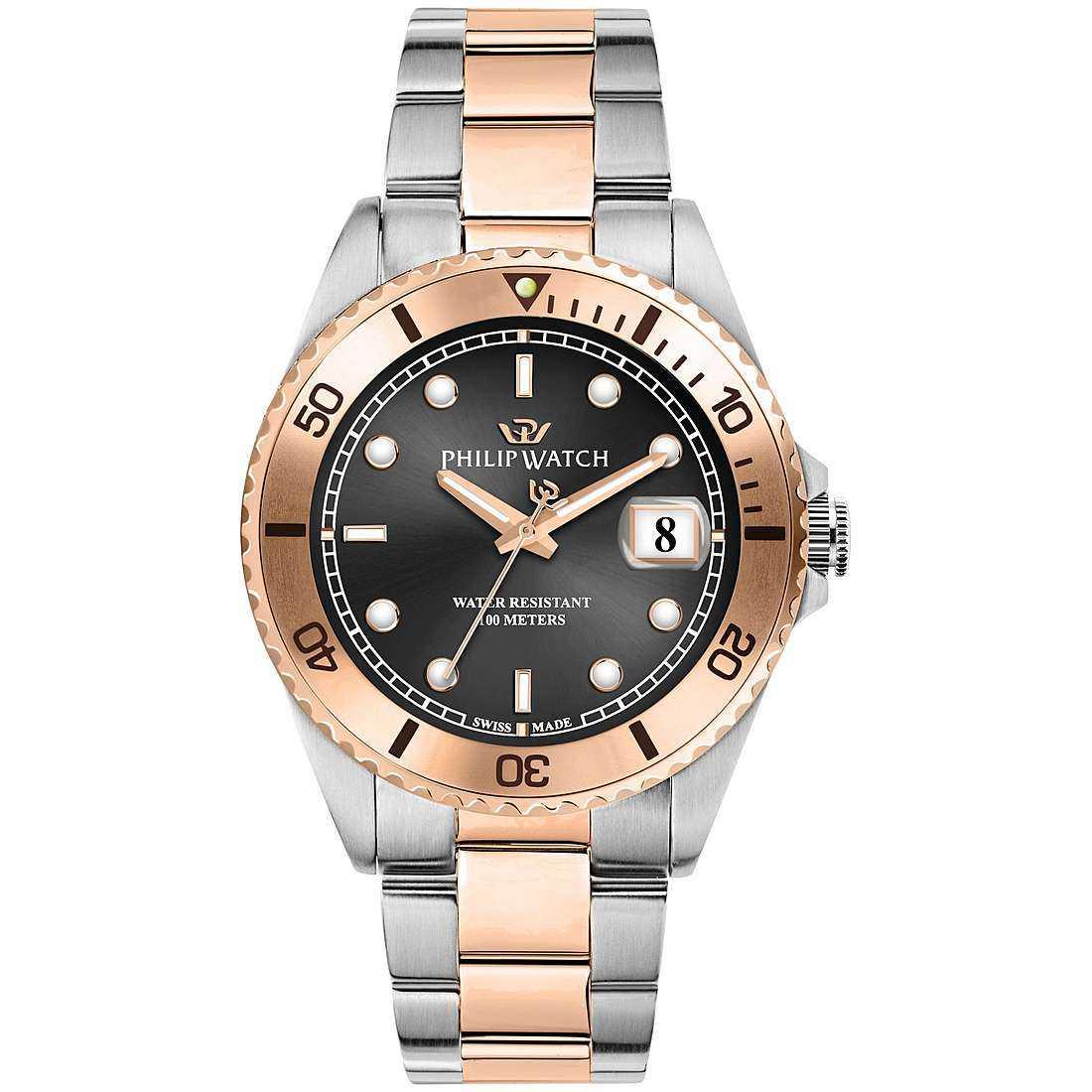 Orologio solo tempo uomo philip watch caribe r8253597047